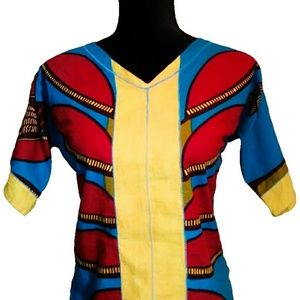 African Ankara Crop Top Ethnic African Blouse